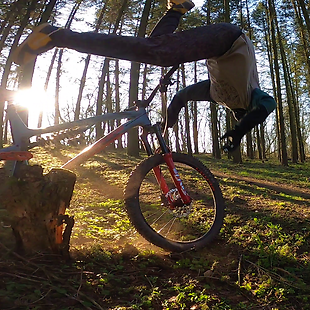 The young athlete Michal was with his friend riding freeride bikes. Michal overestimated his forces...