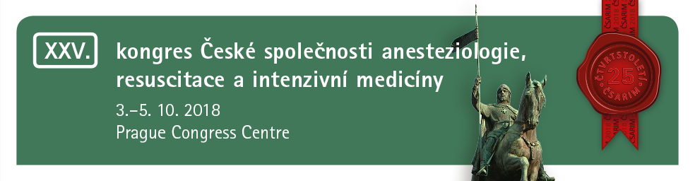 25th Congress of Czech  Society of Anaesthesiology and Intensive Care Medicine